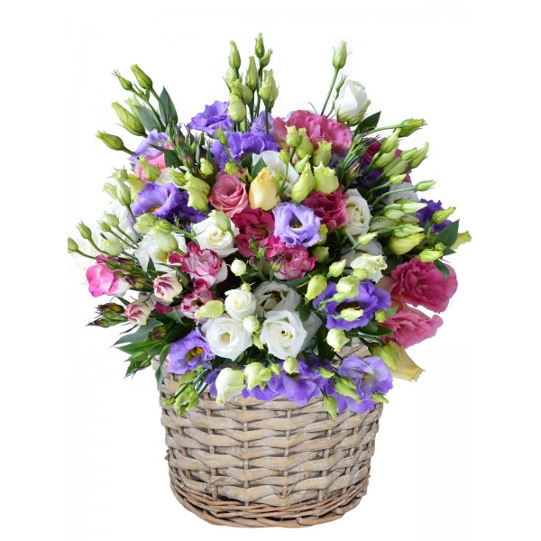 Корзина с цветами 111