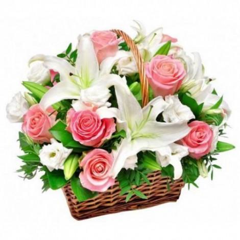 Корзина с цветами 106