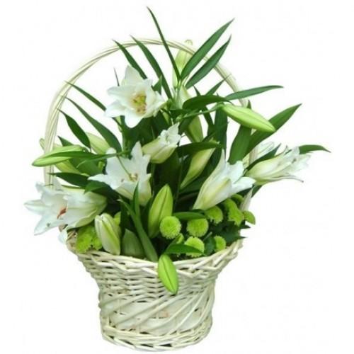 Корзина с цветами 105