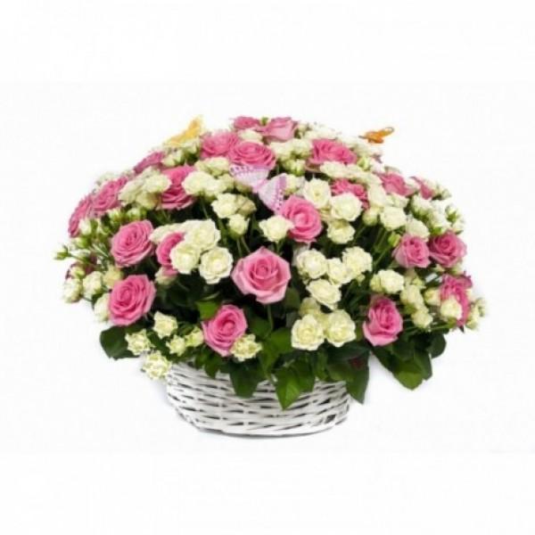 Корзина с цветами 104